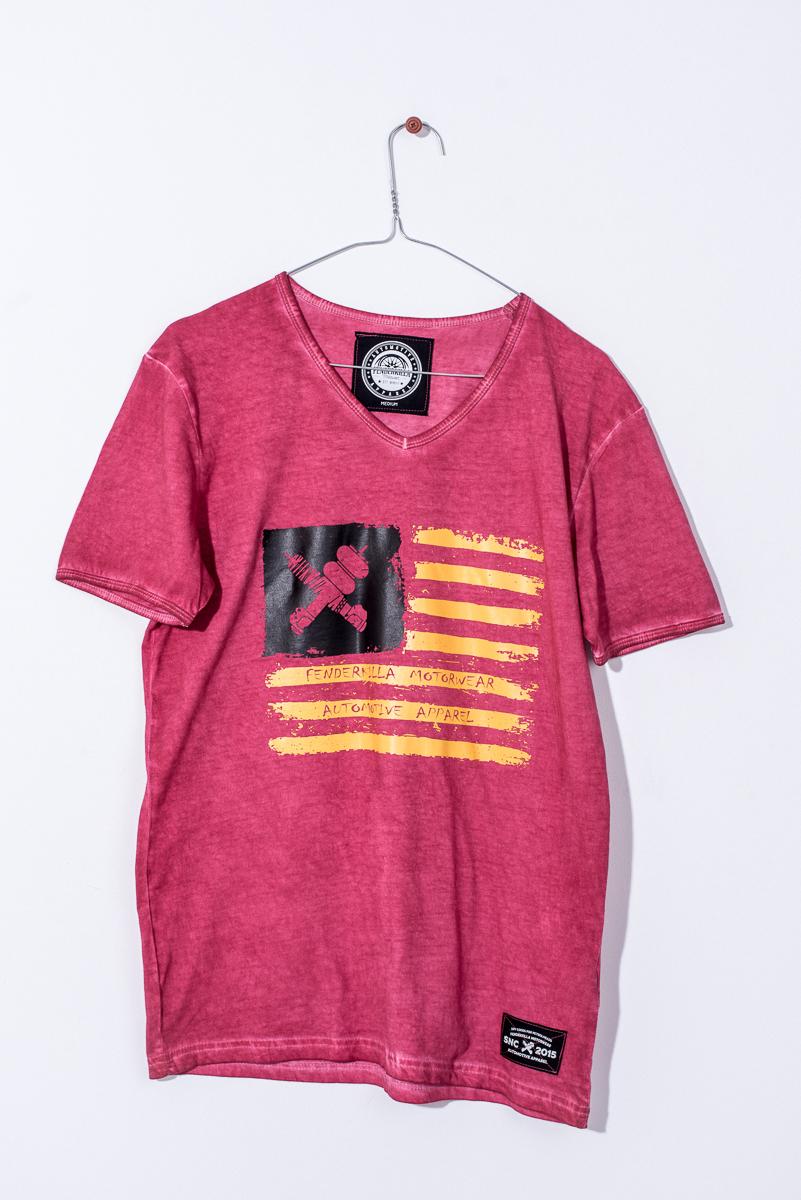Man T-Shirt Crossed Suspension Flag